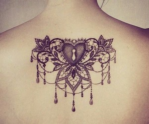 cool, inked, and flowers image