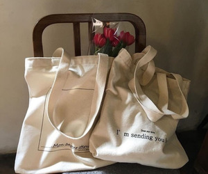 bags, flowers, and roses image