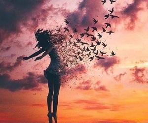 art, birds, and summer image