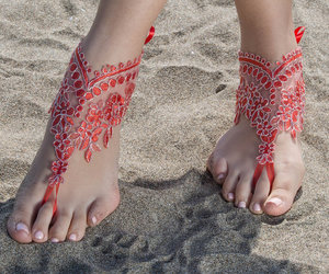 etsy, beach wedding, and foot wear image