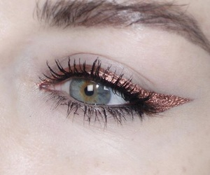 eyeliner and rose gold image