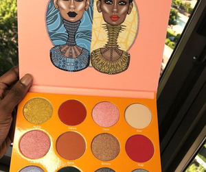 cosmetics, eyeshadow palette, and makeup image