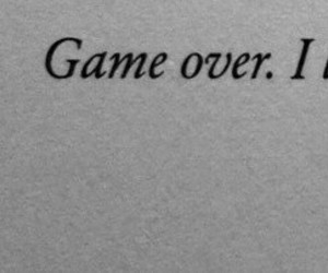 game over, lose, and sad image