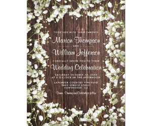 baby's breath, barn, and invitations image