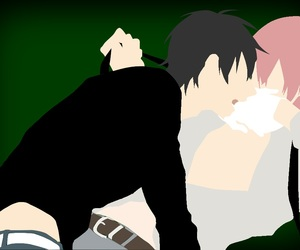 anime, kiss, and no face image