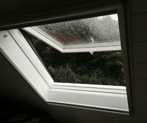 window, rain, and grunge image