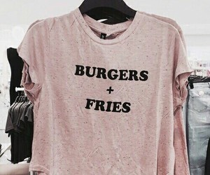 fashion, pink, and fries image