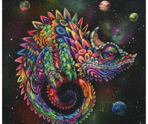 art and chameleon image