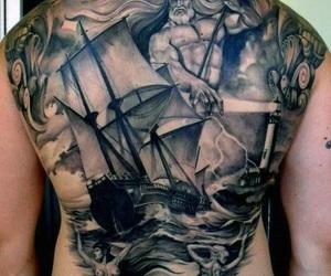 poseidon, Tattoos, and greek mythology image