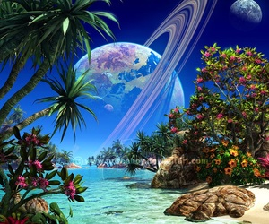 paradise and planet image