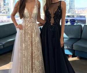 beauty, long dresses, and bff image