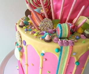 cake, candies, and food image