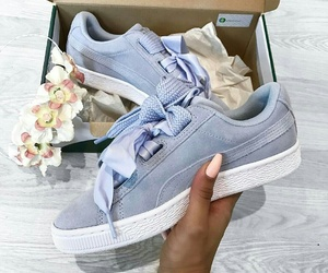 beauty, shoe, and blue image