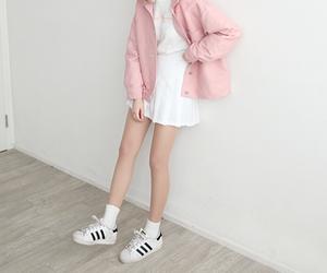 adidas, pink, and ulzzang image