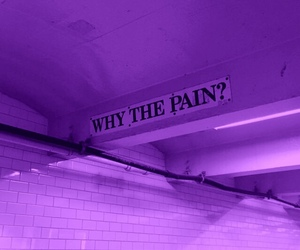 purple, aesthetic, and pain image
