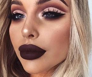 eyebrows, inspiration, and lipstick image