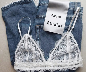 fashion, jeans, and bralette image