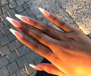 beauty, french, and longnails image