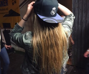 blond, cap, and couple image