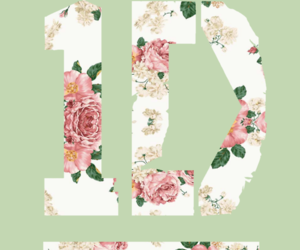 floral, Logo, and one direction image