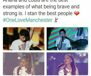 ariana grande, louis tomlinson, and one direction image
