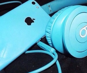 blue, iphone, and apple image