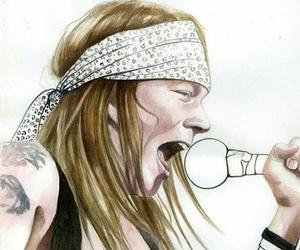 dibujo, drawing, and guns n' roses image