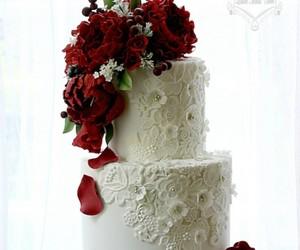 brides, cake, and decor image