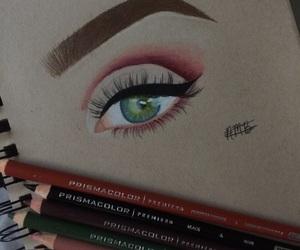 art, eye, and eye drawing image