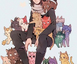 anime, boku no hero academia, and cat image