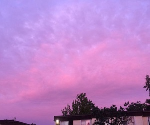 sky, cotton candy skies, and sunset image