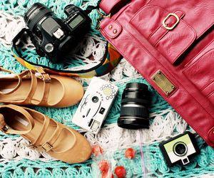 bag, camera, and shoes image