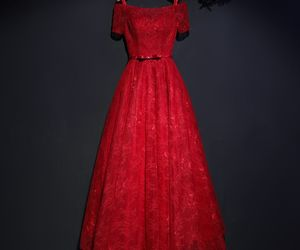 2017, red formal dresses, and a-line princess image