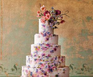 cake, pretty, and wedding image