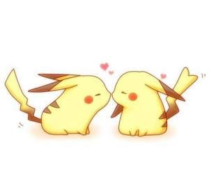 pikachu, love, and pokemon image