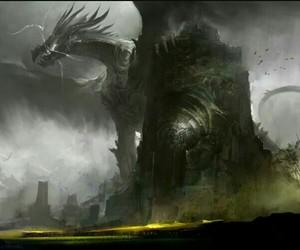 art, fantasy, and dragon image