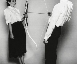 black and white, MARINA ABRAMOVIC, and art image