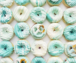 donuts, food, and mint green image