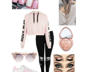 fashion, hair, and Polyvore image