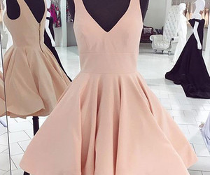 short prom dress, short homecoming dress, and pink homecoming dress image