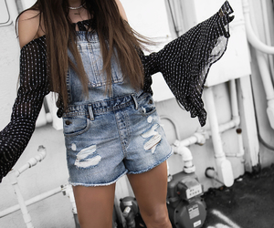 overalls, streetstyle, and fashionblogger image