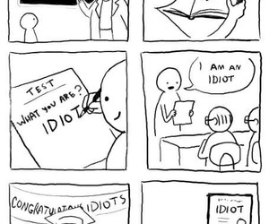 idiot, funny, and school image