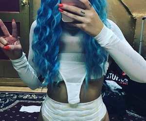 blue wig, endometriosis, and spotify show image