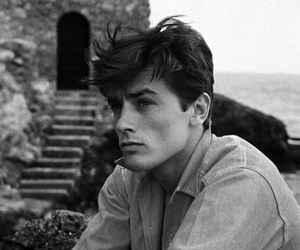 Alain Delon, boy, and vintage image