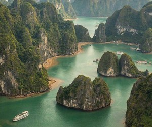 country, halong bay, and Vietnam image