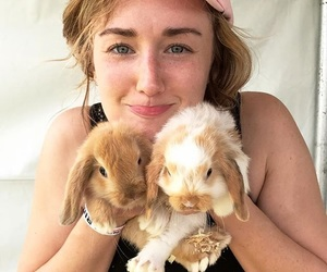 animals, bunnies, and ashley johnson image