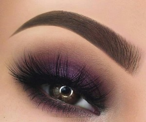 eyebrows, makeup, and purple image
