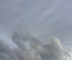clouds, cloudy day, and gray image