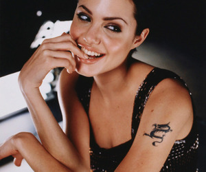 Angelina Jolie and tattoo image