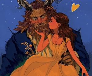 beauty and the beast, dan stevens, and disney princess image